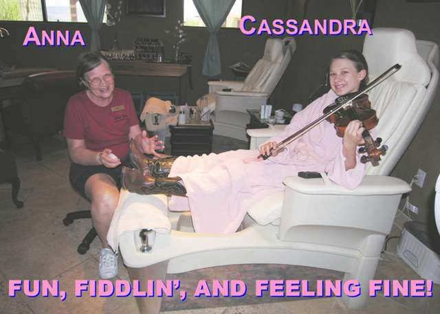 CAssandra of the Sunset Pioneers at the Spa