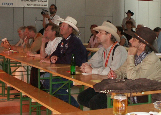 European Country Music Awards judged by Pioneer Pepper & Dusty Cartride of the Sunset Pioneers