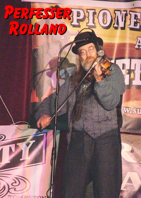 Perfesser Rolland of The Sunset Pioneers at the Western Film Festival in Tombstone