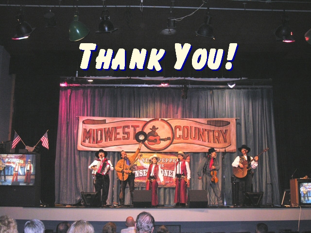 Pioneer Pepper & The Sunset Pioneers take a bow on Midwest Country TV Show