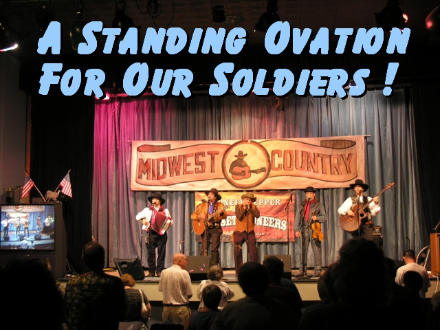 Standing Ovation for our soldiers
