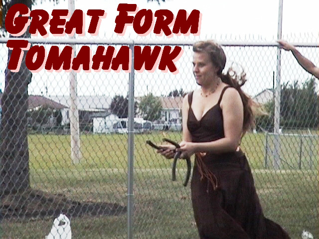 Tomahawk plays horse shoes