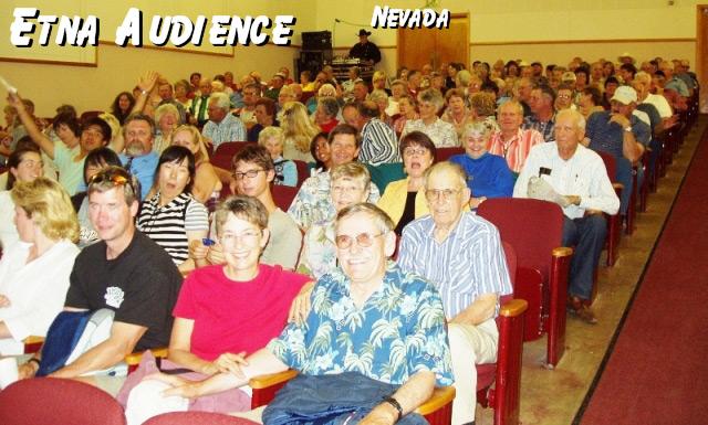 Sunset Pioneers audience in Etna CA