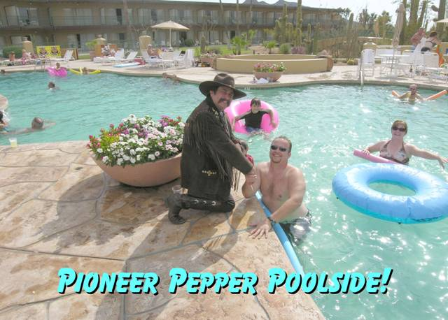 Pioneer Pepper pool side at the Carefree Resort