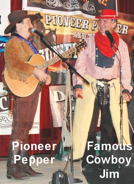 Pioneer Pepper & Famous Cowboy Jim in Tombstone at the Little House on the Prairie reunion
