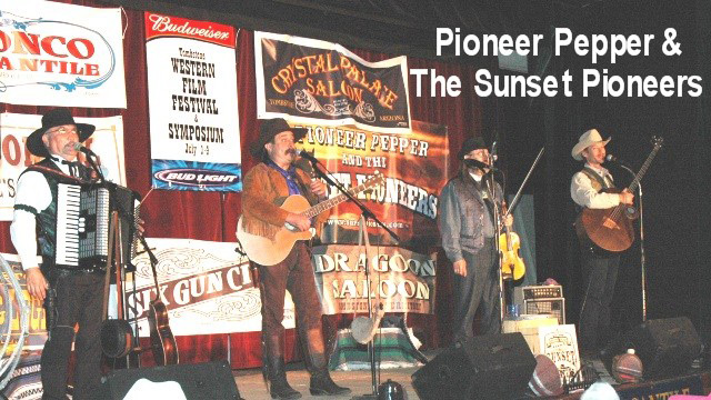 Pioneer Pepper & The Sunset Pioneers perform at the Little House on the Prairie reunion in Tombstone