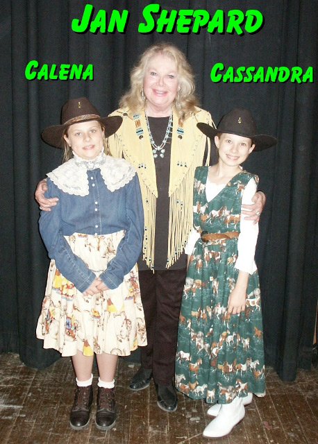 Jan Shepard with Cassandra & Calena of The Sunset Pioneers