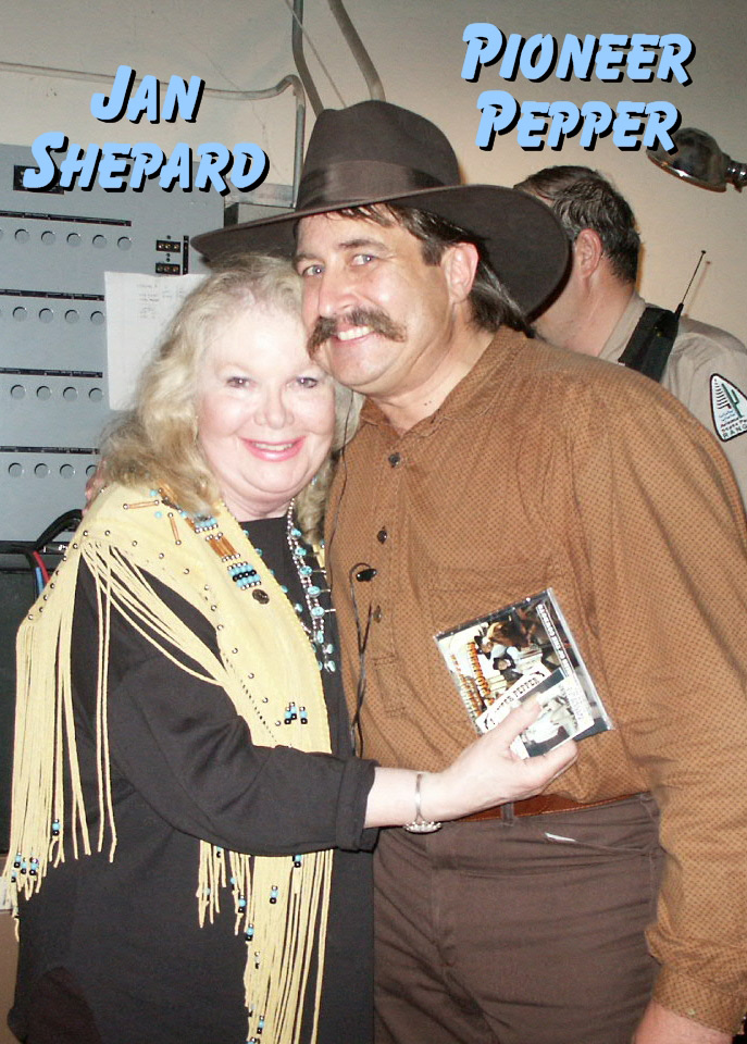 Jan Shepard with Pioneer Pepper at the western Film Festival