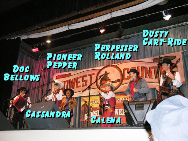 Pioneer Pepper & The Sunset Pioneers performing on Midwest Country TV Show