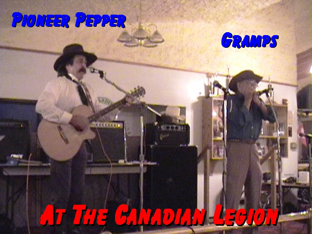 Pioneer Pepper at the Canadian Legion
