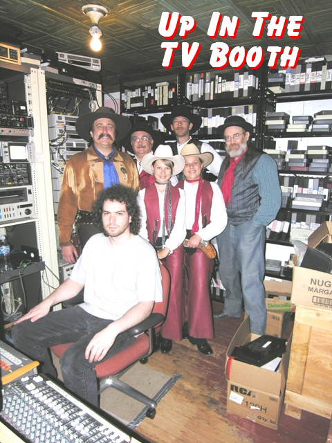 The Sunset Pioneers in TV booth of Midwest Country TV Show