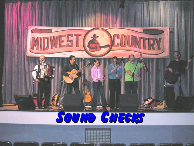 Pioneer Pepper & The Sunset Pioneersat sound check for Midwest Country TV